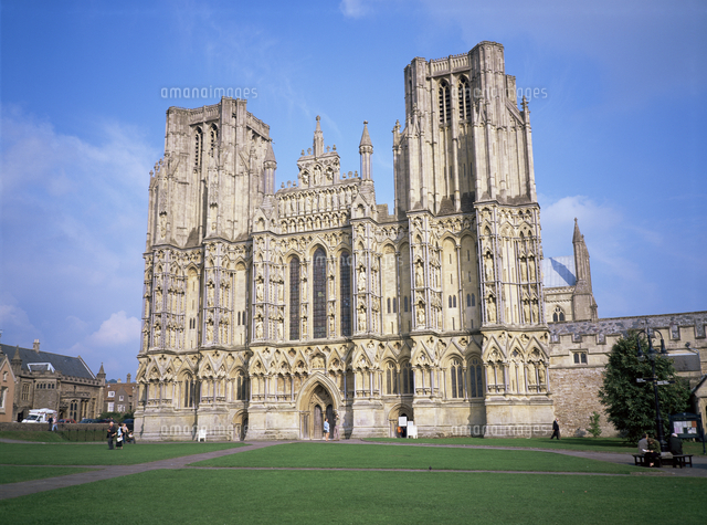 west front wells cathedral wells somerset england united