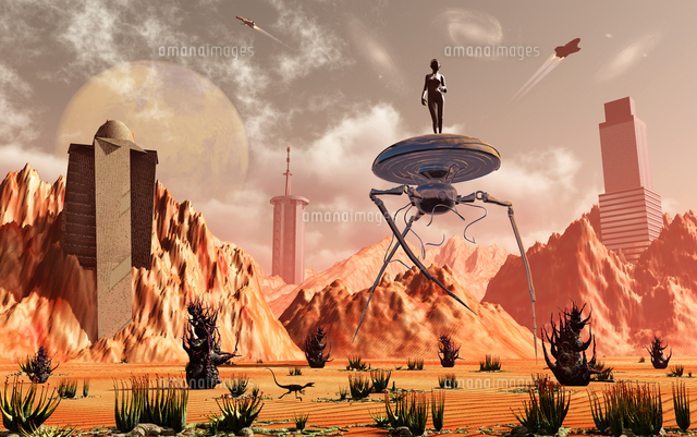 artist s concept of what life on mars may look like in the future