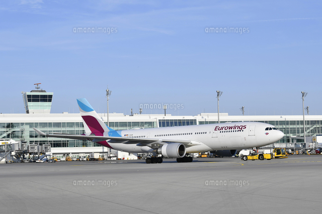 eurowings airbus a330 with push back truck munich 20080005299