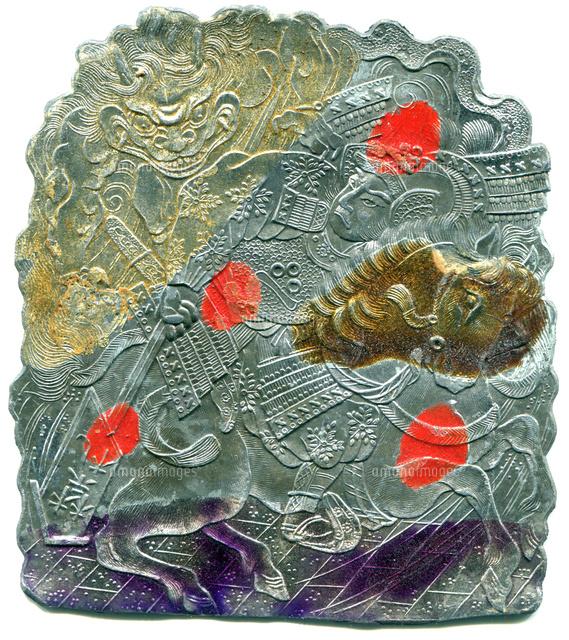 明治時代 鉛面子 羅生門の鬼20086001161の写真素材イラスト素材