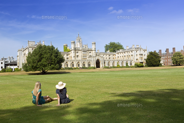 Europe, United Kingdom, England, Cambridge, Cambridge University, view of the 19th Century neo-Gothi