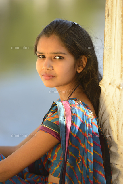 indian girl in traditional dress udaipur rajasthan india asia mr