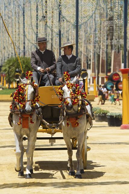 horse drawn carriage feria del caballo in jerez de la frontera