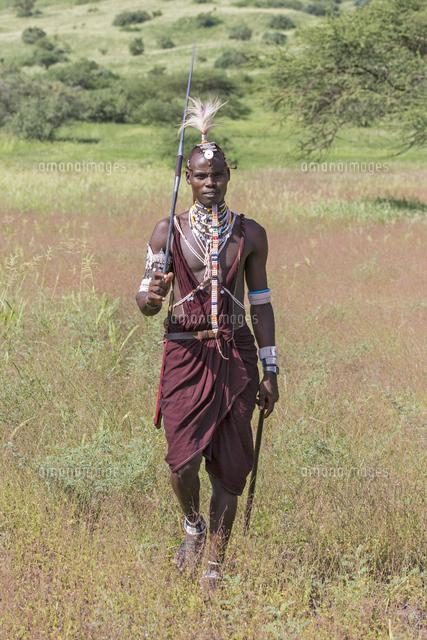tanzania lake natron shompole a maasai warrior in traditional