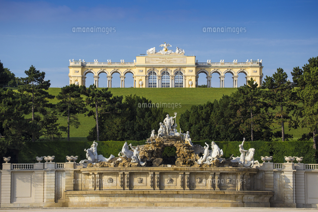 Austria, Vienna, The Gloriette in the gardens of Schonbrunn Palace - a former imperial summer reside