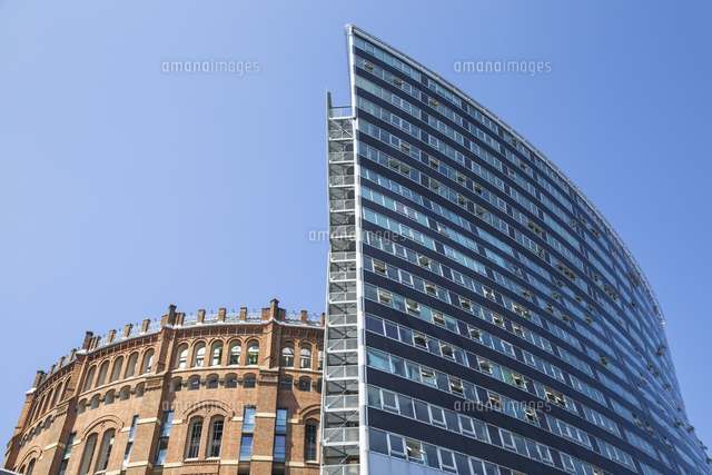 Austria, Vienna, Gasometer buildings - gas storage tanks converted to apartments