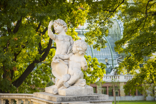 Statues in the Burggarten, Vienna, Austria