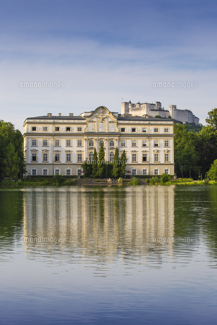 Austria, Salzburg, Leopoldskron, Leopoldskron palace, made famous by the boating scene in The Sound