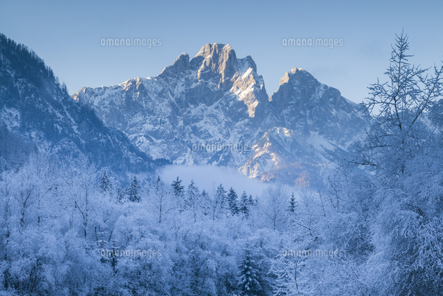 Austria, Styria, Hieflau, winter landscape of the Gesause National Park