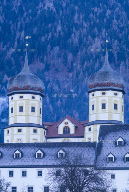 Austria, Tyrol, Stams, Stams Abbey, exterior, winter