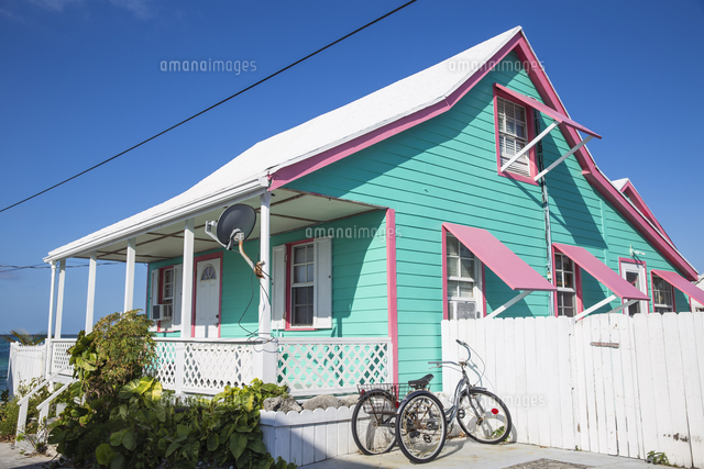 Bahamas, Abaco Islands, Green Turtle Cay, House in New Plymouth