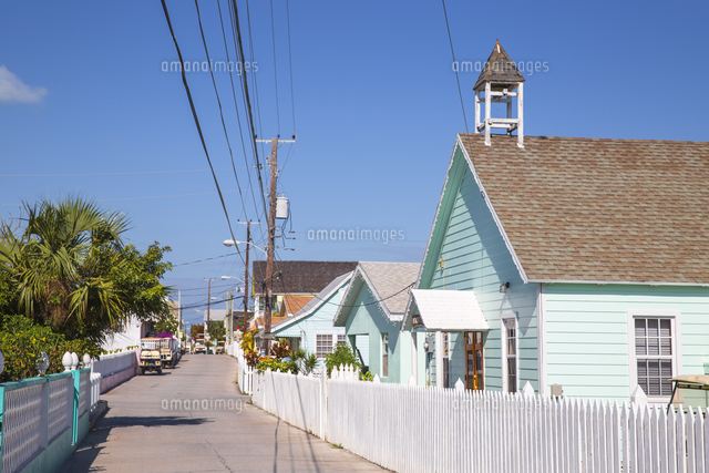 Bahamas, Abaco Islands, Green Turtle Cay, New Plymouth, New Plymouth street