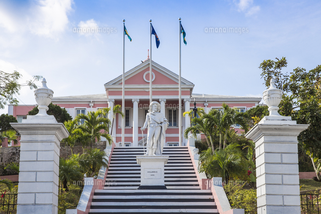 Caribbean, Bahamas, Providence Island, Nassau, Mount Fitzwilliam, Statue of Christopher Columbus at