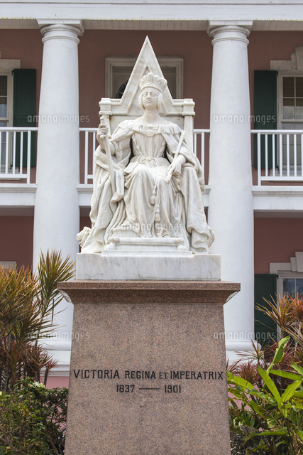 Caribbean, Bahamas, Providence Island, Nassau, Parliament Square, Parliament House, Queen Victoria's