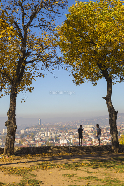 Bosnia and Herzegovina, Sarajevo, Zuta Tabija viewpoint also know as the Yellow Fortress