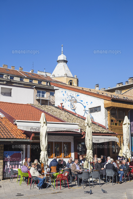 Bosnia and Herzegovina, Sarajevo, Bascarsija - The Old Quarter, Bascarsija Square - Pigeon Square, C