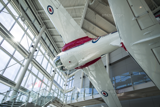 Canada, Ontario, Ottowa, capital of Canada,  Canadian Museum of Aviation, interior with RCAF Snowbir
