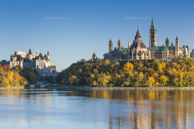 Canada, Ontario, Ottowa, capital of Canada, Canadian Parliament Building, autumn, sunset