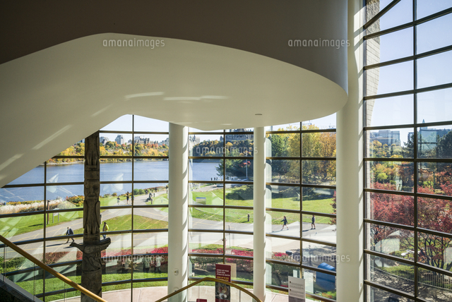 Canada, Quebec, Hull-Gatineau, Canadian Museum of Civilization, interior view