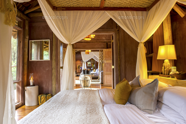 Room Interiors At Lake Manyara Tree Lodge, Tanzania (c)awl Images