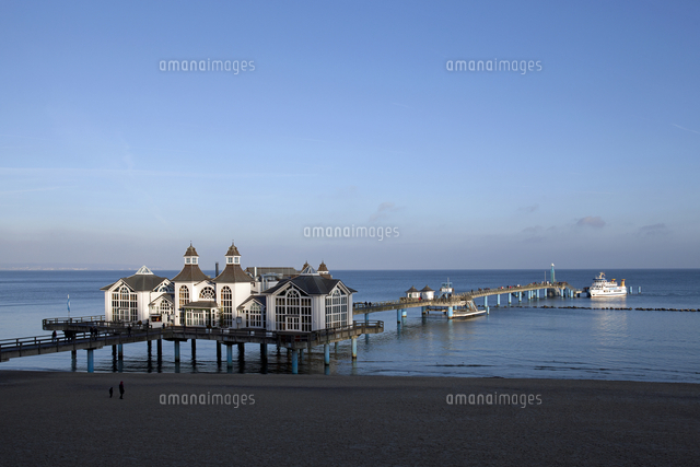 view of the pier and a moored pleasure boat at selin 20089003624