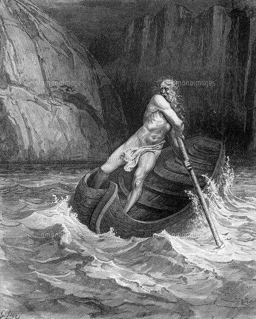 Charon, the Ferryman of Hell, ...