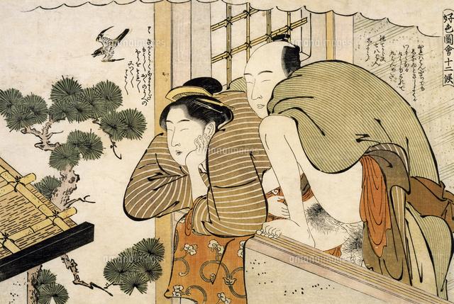 the month of october ca 1788 shunga by katsukawa shuncho