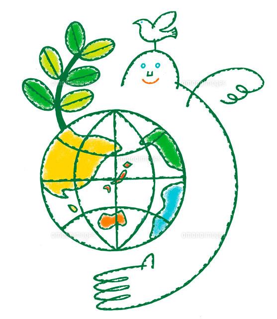 エコロジーイラスト 地球と成長...