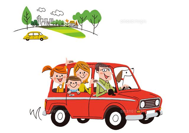 車に乗る家族22276005928の写真素材イラスト素材アマナイメージズ