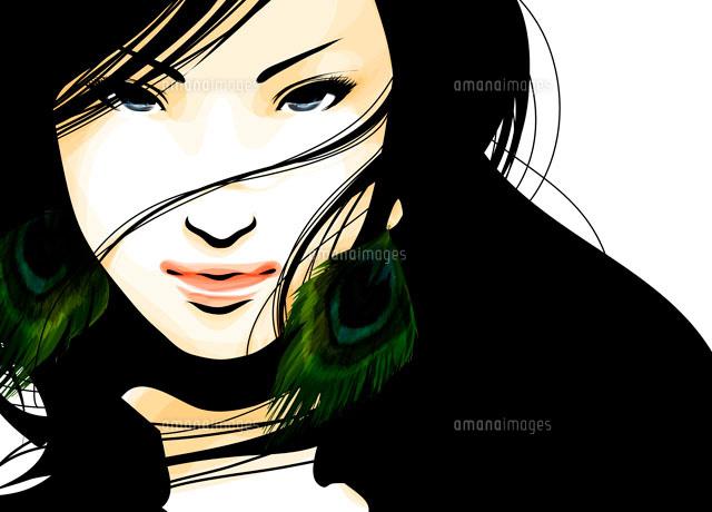 女性の顔のアップ22276006277の写真素材イラスト素材アマナイメージズ
