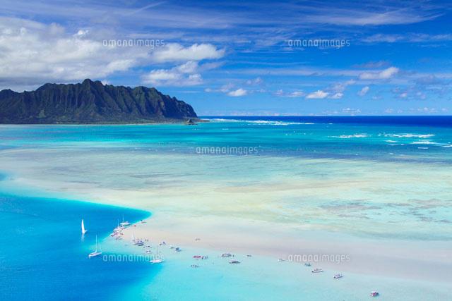 天国の海とボートとクアロア岬22320025478の写真素材イラスト素材