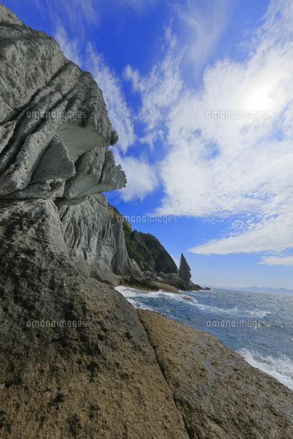 仏ヶ浦,巨岩,海蝕崖,緑色凝灰岩,...