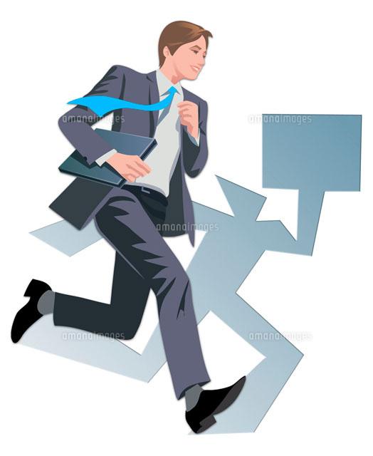 走るビジネスマン22370000217の写真素材イラスト素材アマナイメージズ