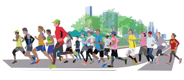 街のマラソン22370000481の写真素材イラスト素材アマナイメージズ