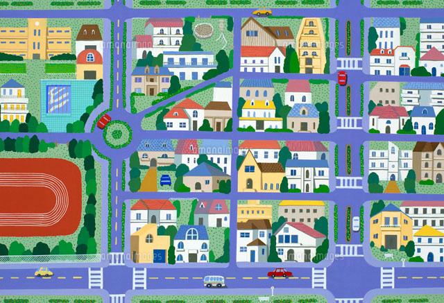 街並み イラスト22451004800の写真素材イラスト素材アマナイメージズ