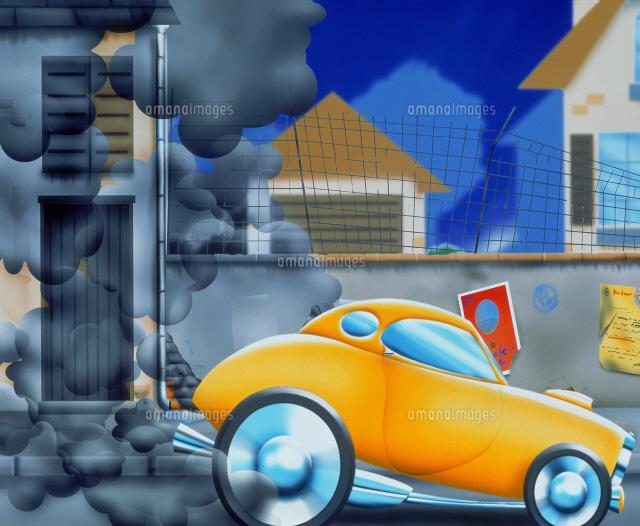 大気汚染イラスト22451020838の写真素材イラスト素材アマナ