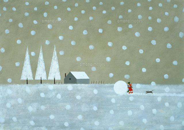 冬の風景 イラスト22451030432の写真素材イラスト素材アマナイメージズ