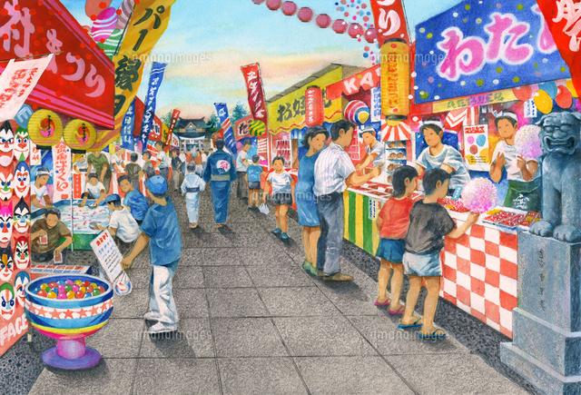 懐かしい昭和のお祭り22451033563の写真素材イラスト素材アマナ