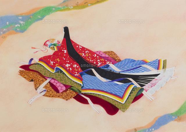 和風イラスト平安の雅十二単22451036039の写真素材イラスト素材
