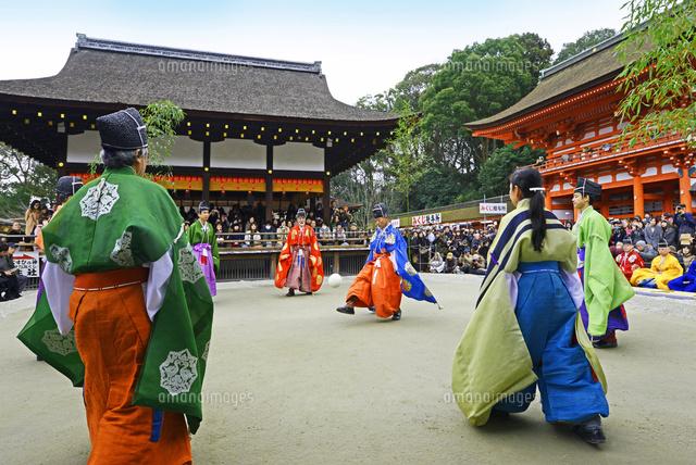 京都府 下鴨神社 蹴鞠始め22456003128の写真素材イラスト素材