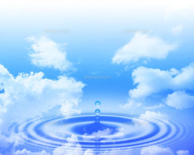 水面に映る空[22547000504]| 写...