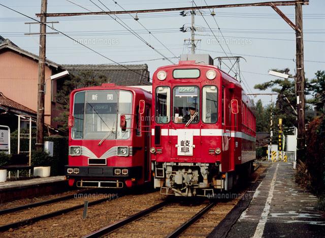 名鉄美濃町線白金駅[22594000215...