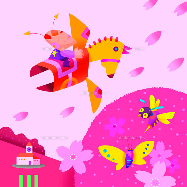 春の昆虫イメージ イラスト22645000056の写真素材イラスト素材
