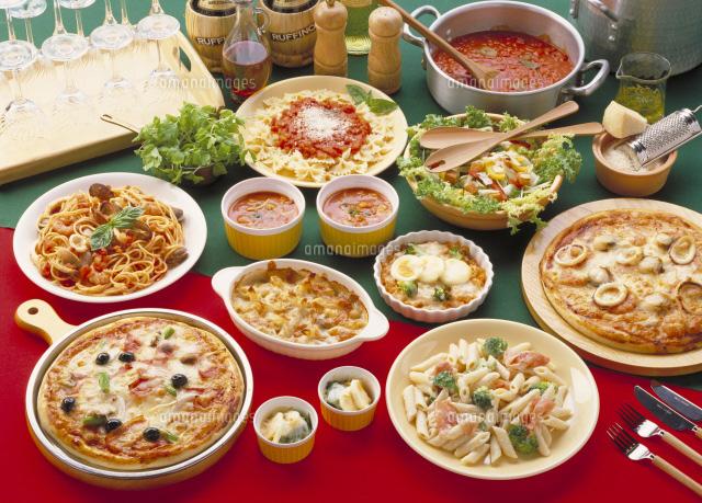イタリア料理集合22709005963の写真素材イラスト素材アマナイメージズ