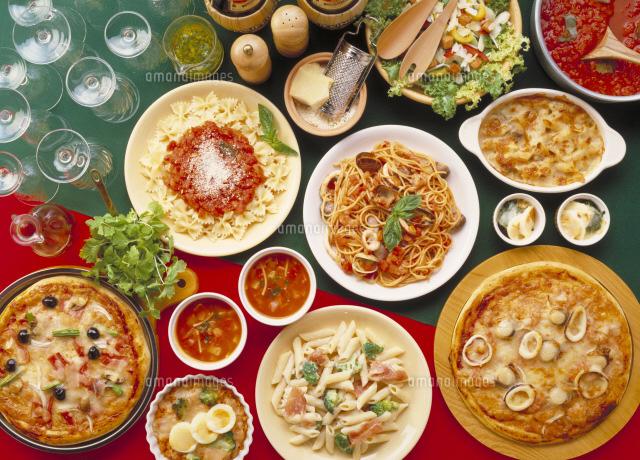イタリア料理集合22709005976の写真素材イラスト素材アマナイメージズ