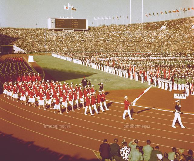 東京五輪開会式、入場行進する日本選手団=国立競技場[23023004648]の ...