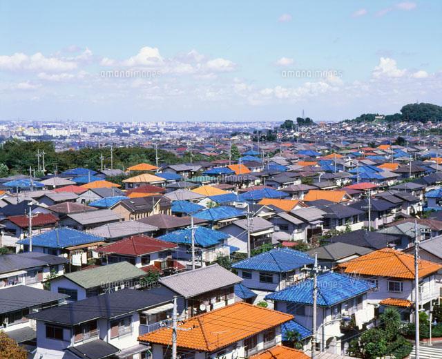 東京郊外の住宅地[25086002474]...