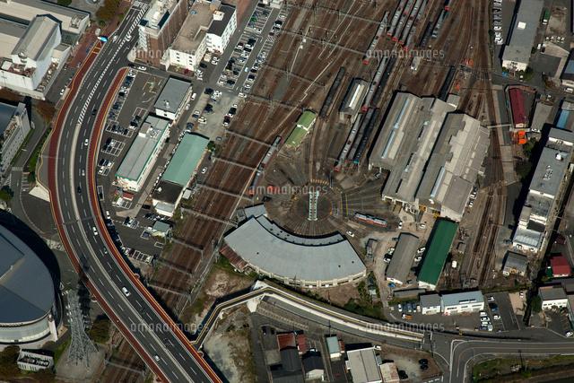 米子駅隣接の後藤総合車両所(タ...