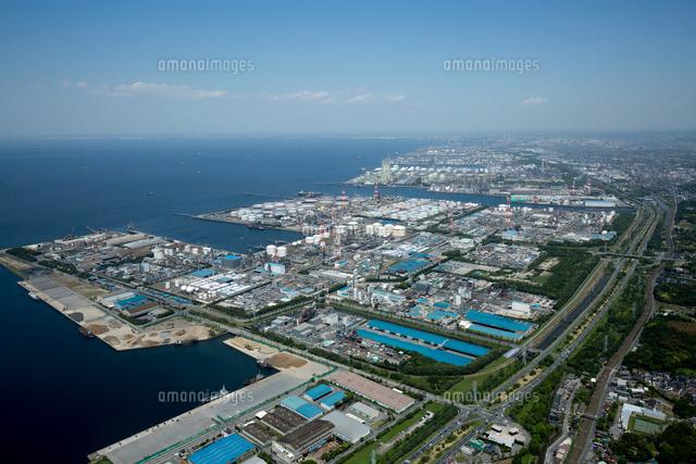 京葉工業地帯(グリーンベルト)北浦より五井方面
