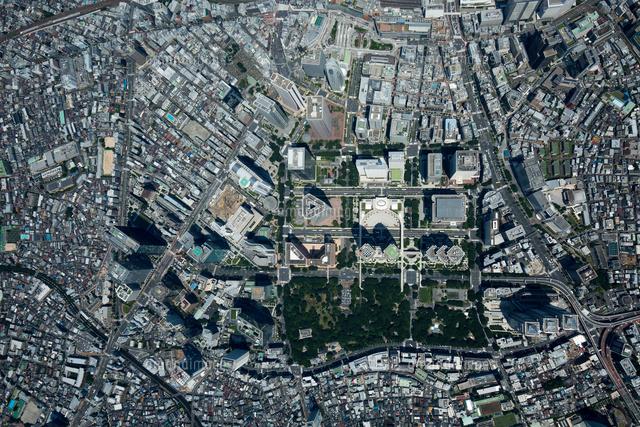 新宿駅西口ビル群周辺(俯瞰撮影)2,000m